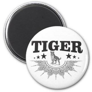 happy tiger magnet