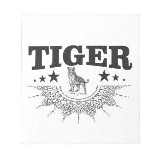happy tiger notepad