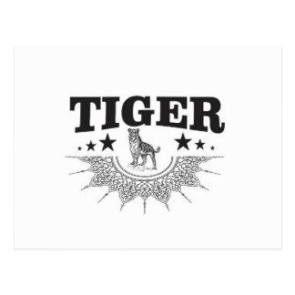 happy tiger postcard