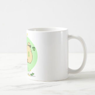 Happy Tiger Rolling in the Money Basic White Mug