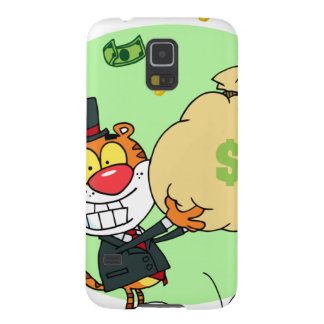 Happy Tiger Rolling in the Money Galaxy S5 Covers