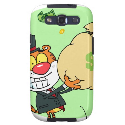 Happy Tiger Rolling in the Money Samsung Galaxy S3 Cases