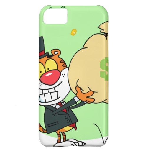 Happy Tiger Rolling in the Money iPhone 5C Case