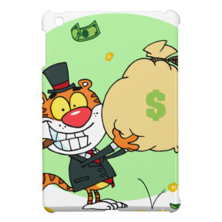 Happy Tiger Rolling in the Money Case For The iPad Mini