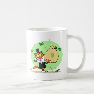 Happy Tiger Rolling in the Money Coffee Mug