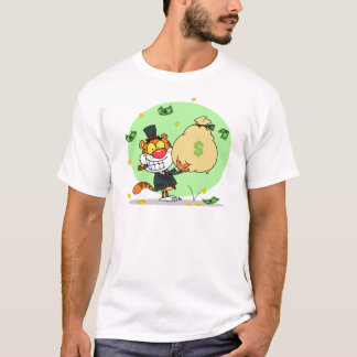 Happy Tiger Rolling in the Money T-Shirt