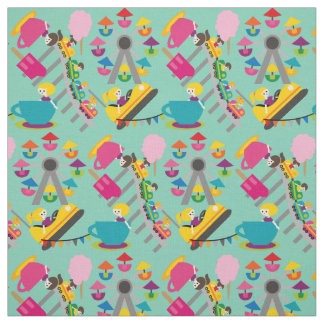 Happy Times Amusement Park Fabric