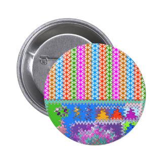 Happy Times : Feminine Energy Pattern 6 Cm Round Badge