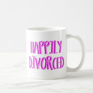 Happy To Be Divorced Female Basic White Mug