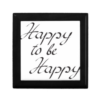 happy to be happy small square gift box