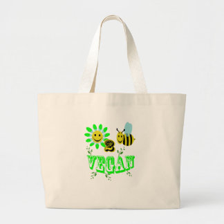 happy to bee vegan tote bag