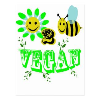 happy to bee vegan postcard