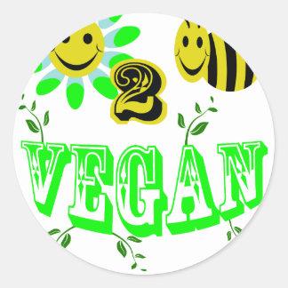 happy to bee vegan sticker