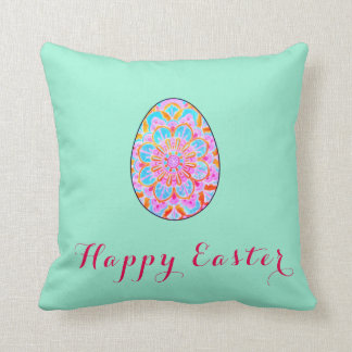 Happy to easter sends it rabbit cushion