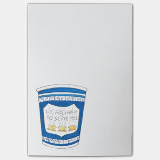 Happy to Serve You NYC Greek Coffee Cup Post Its Post-it Notes