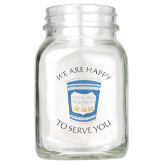 Happy to Serve You NYC Greek Coffee Cup Tip Jar