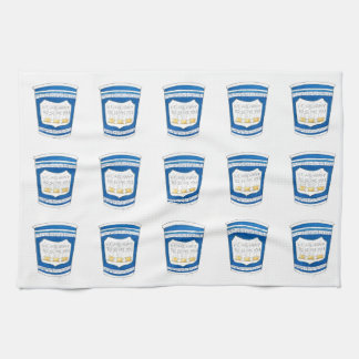 Happy To Serve You NYC Greek Diner Blue Coffee Cup Tea Towel