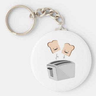 Happy Toaster Basic Round Button Key Ring