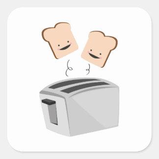 Happy Toaster Square Sticker