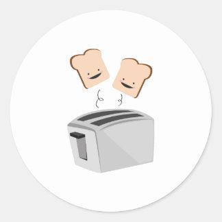 Happy Toaster Round Sticker