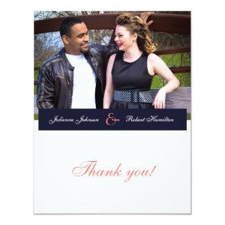 "Happy Together | Photo Wedding ""Thank You"" 11 Cm X 14 Cm Invitation Card"