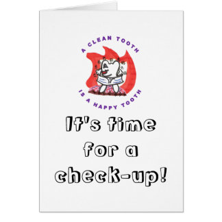 Happy Tooth Appointment Reminder Greeting Cards