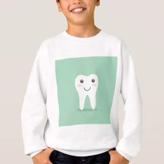 Happy Tooth cartoon dentist brushing toothbrush Sweatshirt