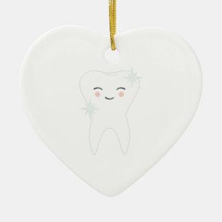 Happy Tooth Ceramic Ornament