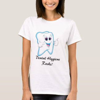 happy tooth, Dental Hygiene Rocks! T-Shirt
