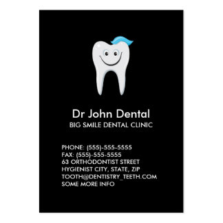 Happy tooth dental profile card business card