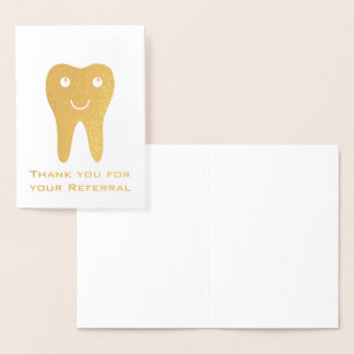 Happy Tooth Thank You for Your Referral Foil Card