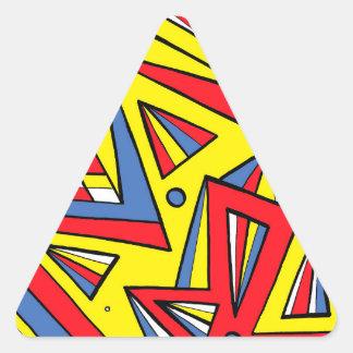 Happy Tough Easy Moving Triangle Sticker