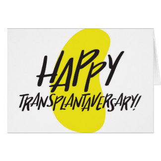 Happy Transplantaversary Kidney Card