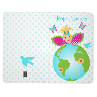 Happy Travels Mother Earth Globe Fairy Angel Diary Journal