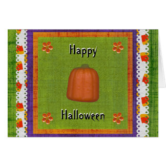 Happy Treat Filled Halloween Candy Corn Pumpkin Card