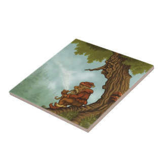 happy tree dwarf fantasy small square tile