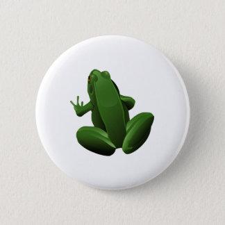 Happy Tree Frog 6 Cm Round Badge