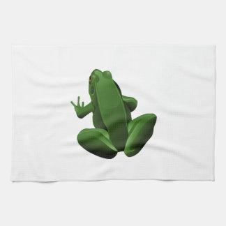 Happy Tree Frog Kitchen Towels