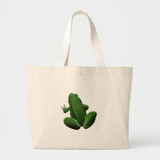 Happy Tree Frog Large Tote Bag
