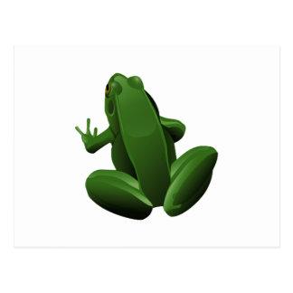 Happy Tree Frog Postcard