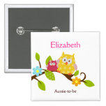 HAPPY TREE OWLS NAME TAG Custom Button