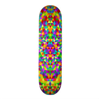 Happy triangle mandala 2 18.1 cm old school skateboard deck
