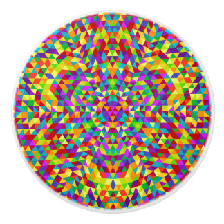 Happy triangle mandala 2 ceramic knob