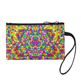 Happy triangle mandala 2 coin purse