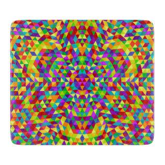 Happy triangle mandala 2 cutting board