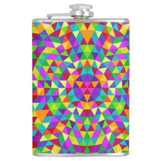 Happy triangle mandala 2 hip flask