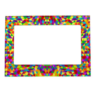 Happy triangle mandala 2 photo frame magnet