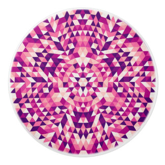 Happy triangle mandala ceramic knob