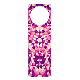 Happy triangle mandala door hanger