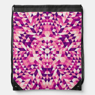 Happy triangle mandala drawstring bag